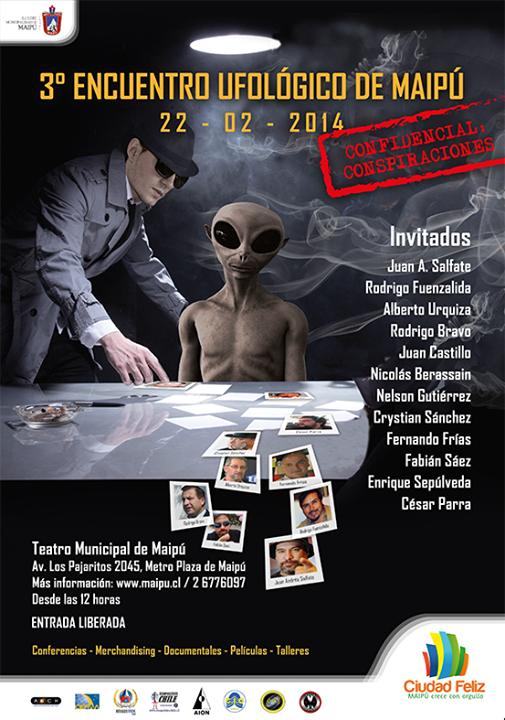 #Chile: 3er Encuentro Ufológico de #Maipú, Confidencial: Conspiraciones (2/3)