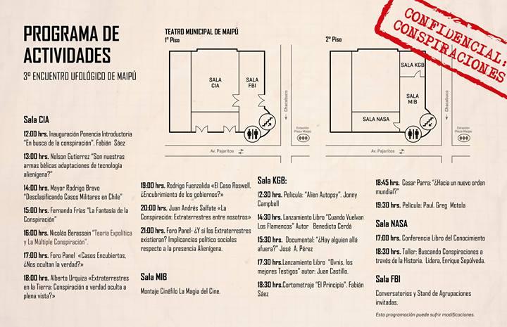 #Chile: 3er Encuentro Ufológico de #Maipú, Confidencial: Conspiraciones (3/3)